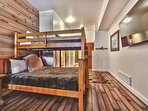 Bunk Room with 2 Twin over Full Bunks and Flat Screen TV