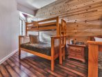 Bedroom 2 - Bunk Room with 2 Twin over Full Bunks, Flat Screen TV and New Hardwood Floors