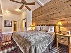 Master Bedroom with King Bed, Hardwood Floors and Private Bath