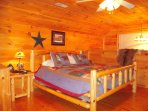 Rustic furnishings in this king bedroom suite on the 2nd floor