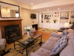 The large 23'x 12' living room offers plenty of seating for the entire family.