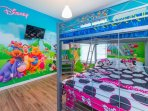 Kids room with 2 full beds
