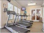 fitness center (2min walk away)