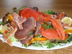 Locally caught shellfish