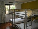lower bedroom sleeps 4 bunk beds