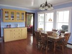 Enjoy a family meal in this large, bright eat-in kitchen