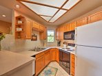 The fully equipped kitchen can handle all your culinary creations.