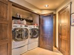 Feel free to pack lightly as you'll have access to this washer and dryer.