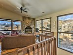 Look out to the East River Valley and into the Maroon Bells Snowmass Wilderness from the north side of the living room.