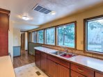 You'll have plenty of natural light and ample counter space for you to cook comfortably.