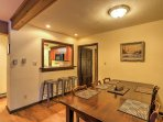 Share the feast at this indoor dining table or out on one of the furnished decks!