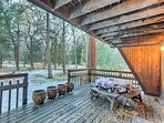Take a break out on the deck after a fun-filled day in St. Elmo - only 15 minutes from this property.