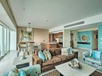 This condo provides unbeatable views of the marina and the mountains from each private balcony!