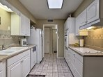 This fully equipped kitchen has everything you need to whip up delicious home-cooked meals.