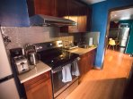 The large kitchen has everything you will need for a comfortable stay.
