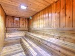 Relax after a day on the slopes in the sauna.