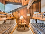 Tuck them into the 2 twin-over-full bunk beds.