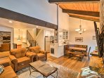 Nestled among the pines, this unit boasts 1,300 square feet for 8 guests.