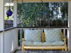 Bench Swing on porch