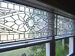Stained Glass in Kitchen windows.