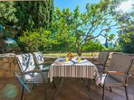 Beatiful terrace and garden in front of your apartment