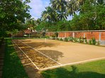 The clay tennis court