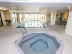 Indoor Hot tub and pool for year round enjoyment