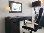 Comfortable office / vanity area
