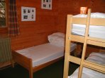 Bedroom 2 with 1 bed and 1 bunk bed