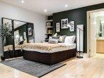 Beautiful Bedroom with Wooden Flooring