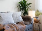 Soft throws and cushions make this a cosy place