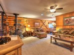 Bright and cozy living room with Tahoe decorations