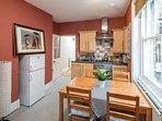 Good sized kitchen with oven and fridge-freezer.