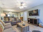 The open living area makes gathering the family a fun time together.