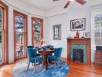 Living/Dining Area Under the live Oak