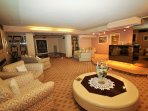 Basement lounge, bar and dance area