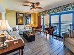 Oceanfront Living Room w/Balcony Access