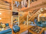 With all the modern comforts of home, this 1,500 square foot cabin is perfect for 6 guests.