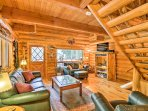 Ten years of craftsmanship went into this beautiful cabin.