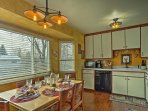 Whip up homemade cuisine in this fully equipped kitchen with views of the spacious backyard!