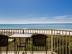 Beautiful view of the Gulf of Mexico from the balcony