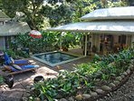 The property surrounded by a tropical garden convenient to everything in Manuel Antonio