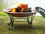 Fire Pit for chilly nights. Come visit year round.
