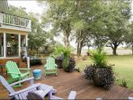 Deck and Grill views of Wando River.