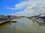 Stay and Play at Shem Creek. Pick up your fish and shrimp, or choose a restaurant.