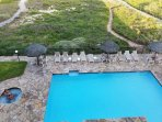 heated pool & hot right below #404 condo Beach front Oceanfront a flip flop walk 20 seconds to waves