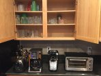 toaster ,12 cup coffee maker,Keurig and conventional toaster oven
