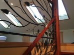 custom wrought iron stair railings