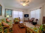 Amenities include AC, ceiling fans, cable tv, WiFi and Italian floor tiles throughout!
