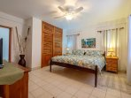 Master bedroom boasts a private bathroom and lots of closet and dresser space for your clothing!